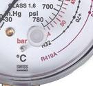 Mặt đồng hồ hiển thị R22/R32/R410A/Bar/PSI/°C: